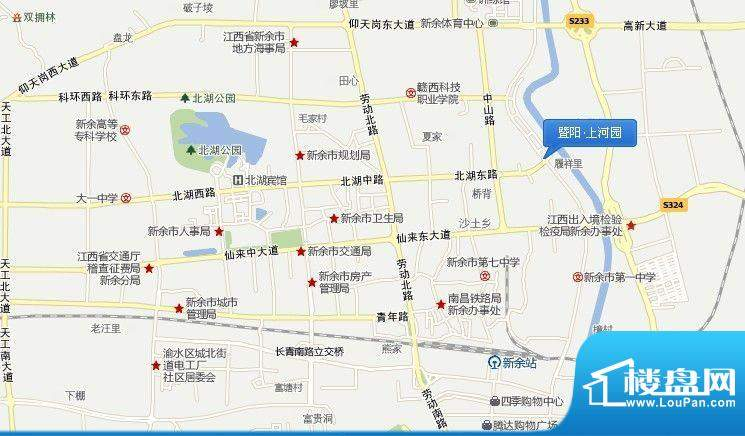 暨阳上河园交通图