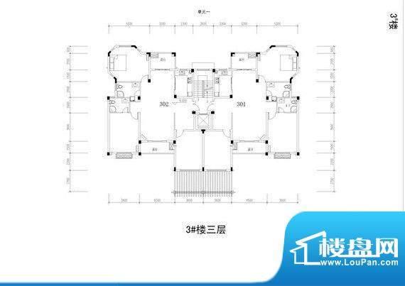 暨阳上河园3#楼三层面积:0.00m平米