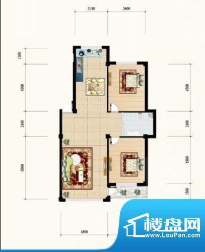 金城·水清源D户型 面积:119.86m平米