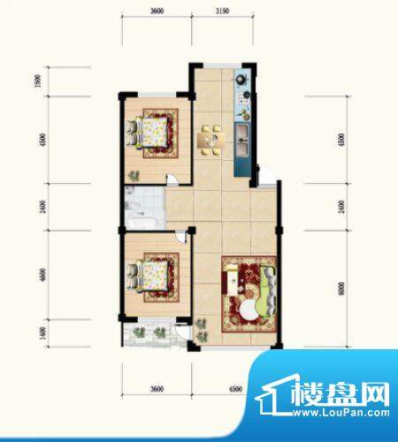 金城·水清源C户型 面积:116.64m平米