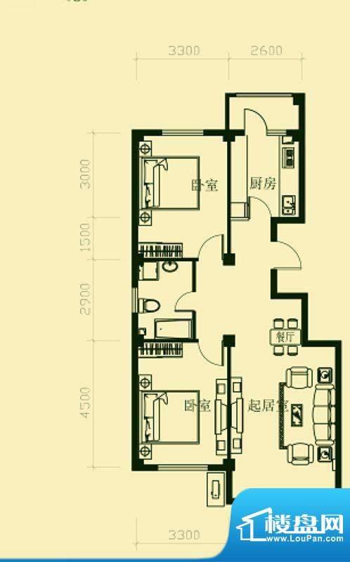 龙脉海景花园3号楼标面积:98.00m平米