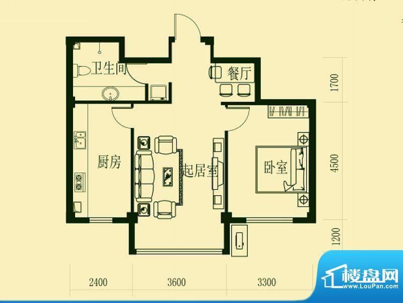 龙脉海景花园4号楼标面积:80.00m平米