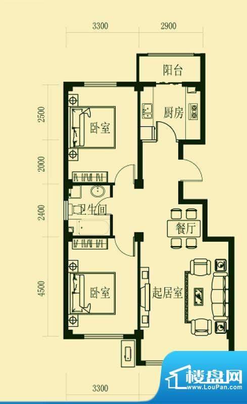 龙脉海景花园4号楼标面积:106.00m平米