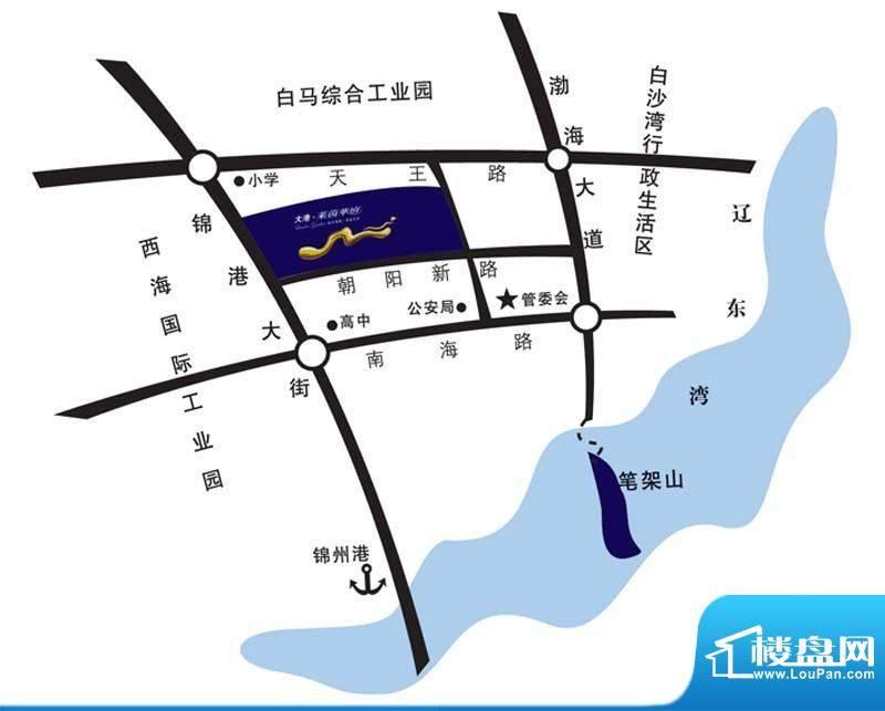 大港·莱茵华庭交通图