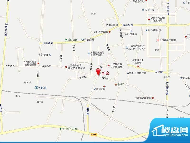 分宜梦时代广场交通图