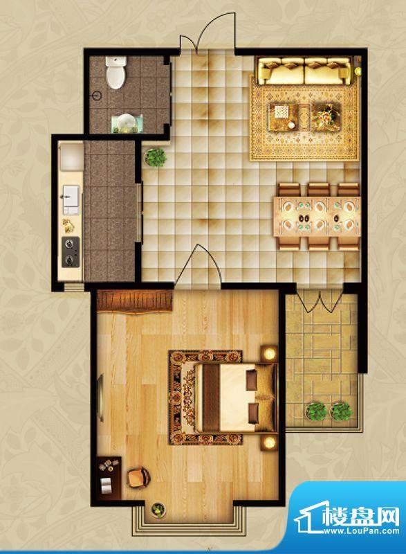 海湾壹号A2 1室1厅 面积:65.21m平米