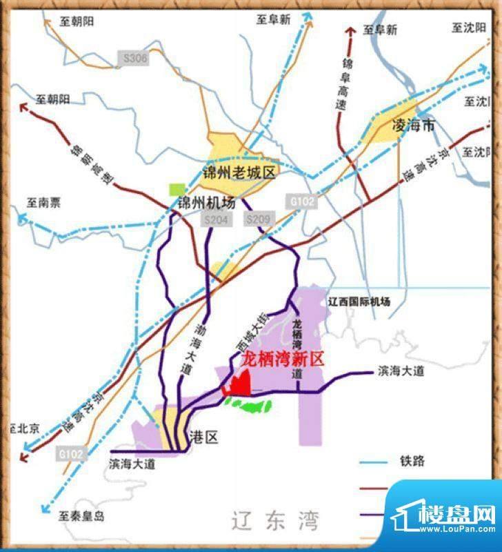 龙湾骏景交通图