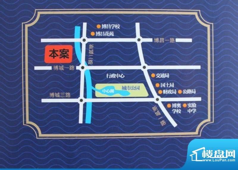 博奥华城交通图