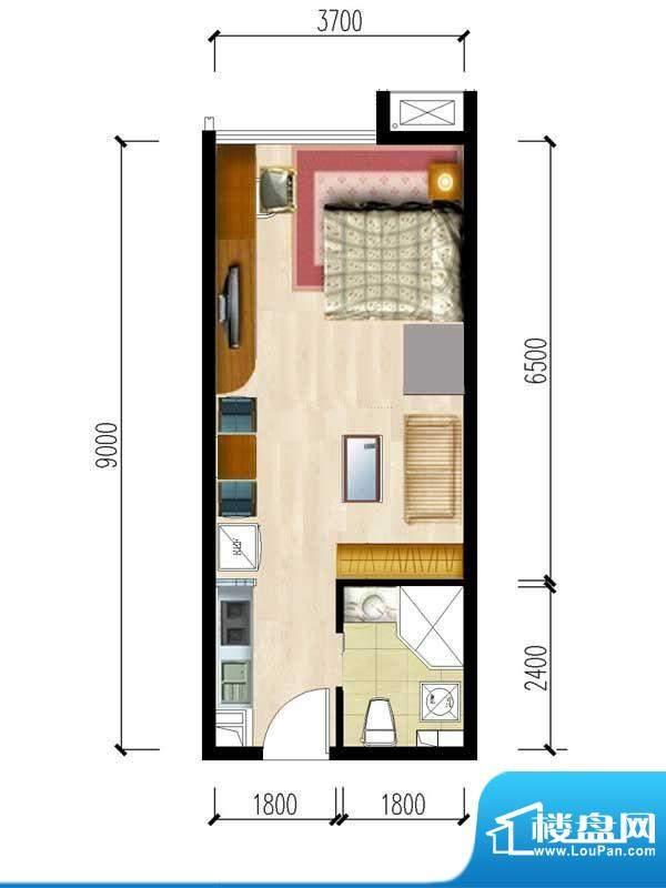 华夏世贸广场B户型 面积:0.00m平米