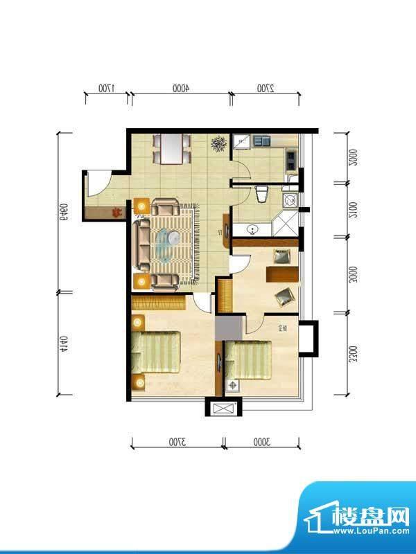 华夏世贸广场E户型 面积:0.00m平米
