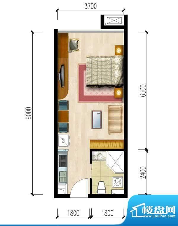 华夏世贸广场D户型 面积:0.00m平米