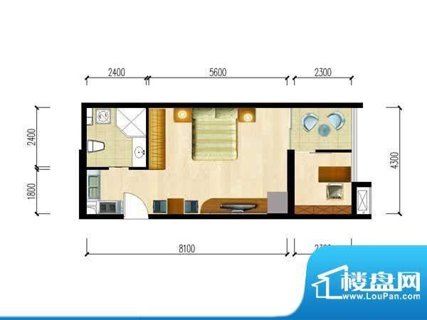 华夏世贸广场C户型 面积:0.00m平米