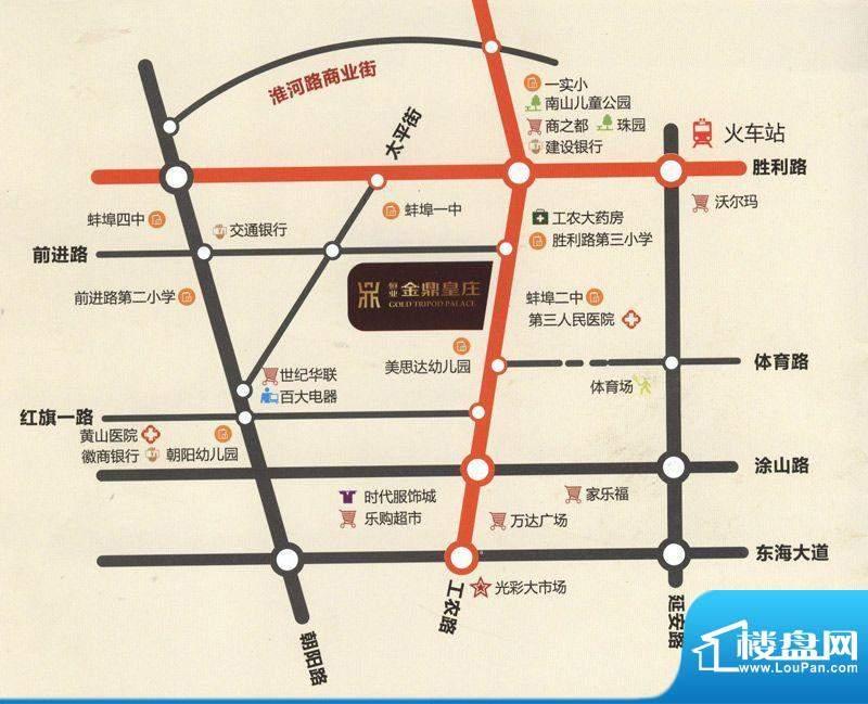 恒业金鼎皇庄交通区位图