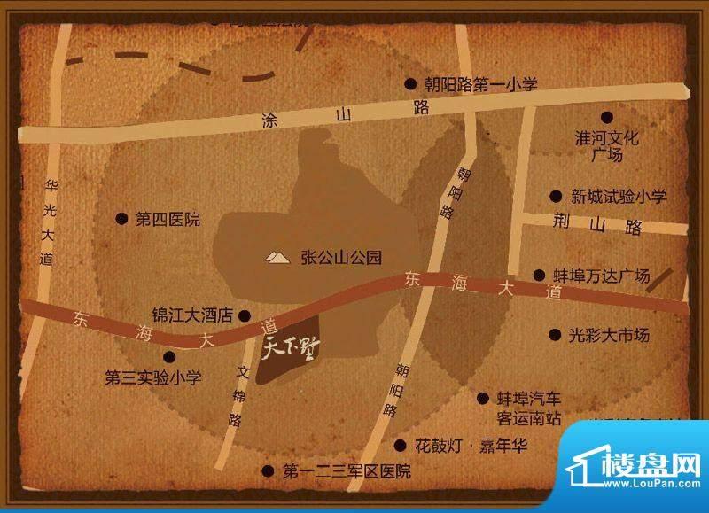 万福·天下墅交通图