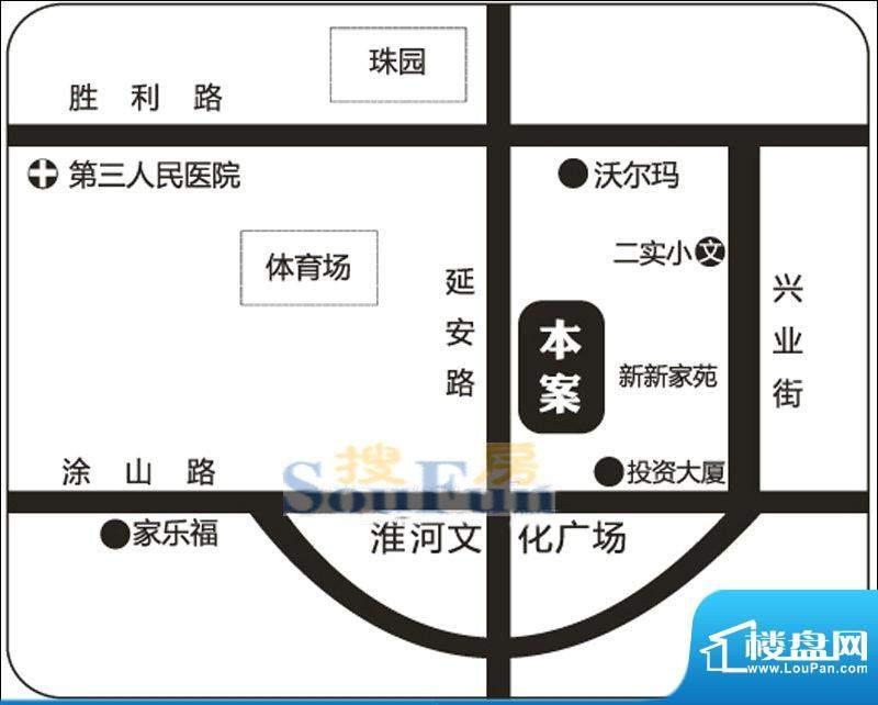 新新尚层交通区位图