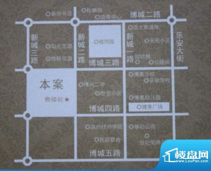 名士豪庭交通图
