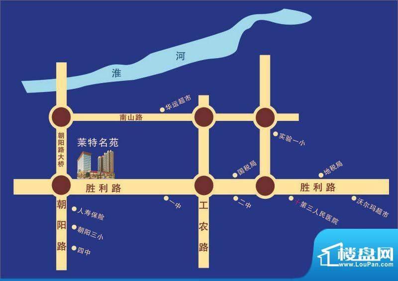 莱特名苑交通图
