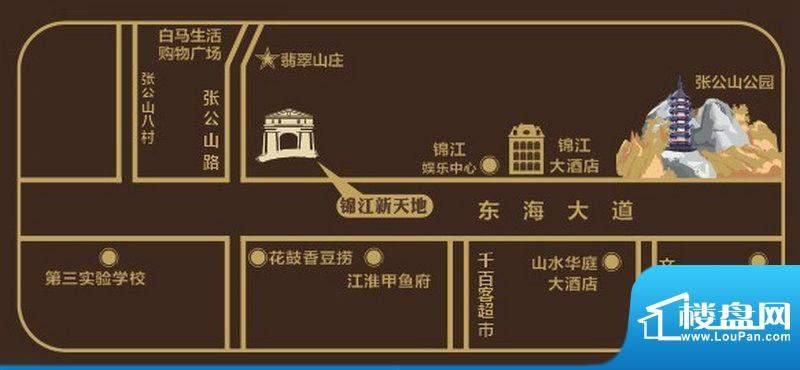 锦江新天地交通图