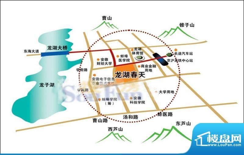 龙湖春天位置图