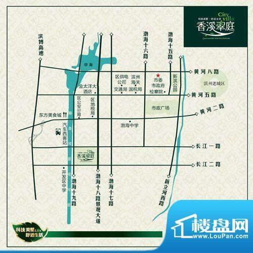 香溪翠庭交通图