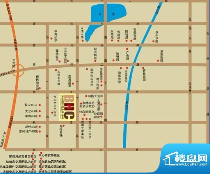 滨州国际五金建材城交通图