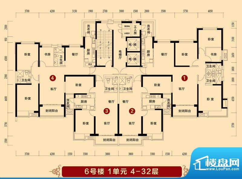 抚顺·恒大华府楼层面积:0.00平米
