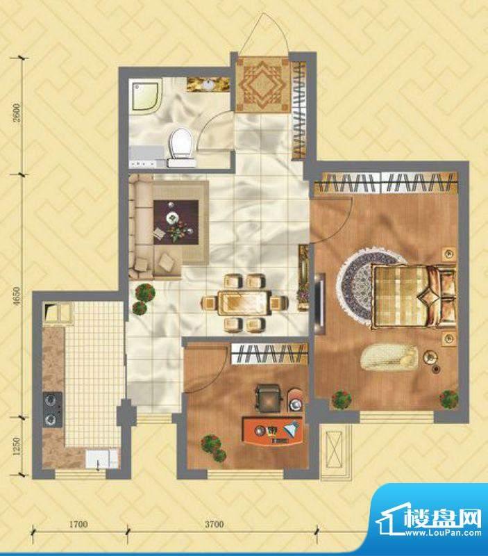浙商·嘉苑C地块2号面积:63.32平米