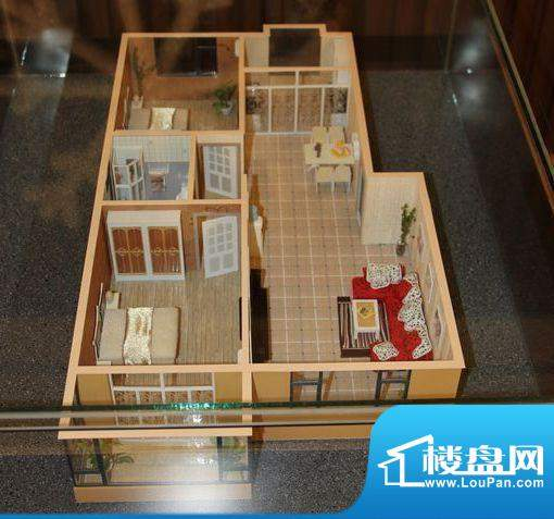 盛世华庭2室2厅1卫1面积:110.00平米