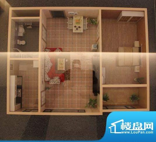盛世华庭B户型1室1厅面积:54.00平米