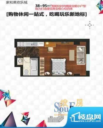 家和美欢乐城1厅1卫面积:38.00平米