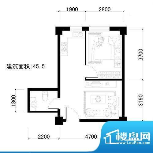 盛龙国际1室1厅1卫4面积:45.50平米