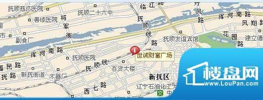 世城·财富广场交通图
