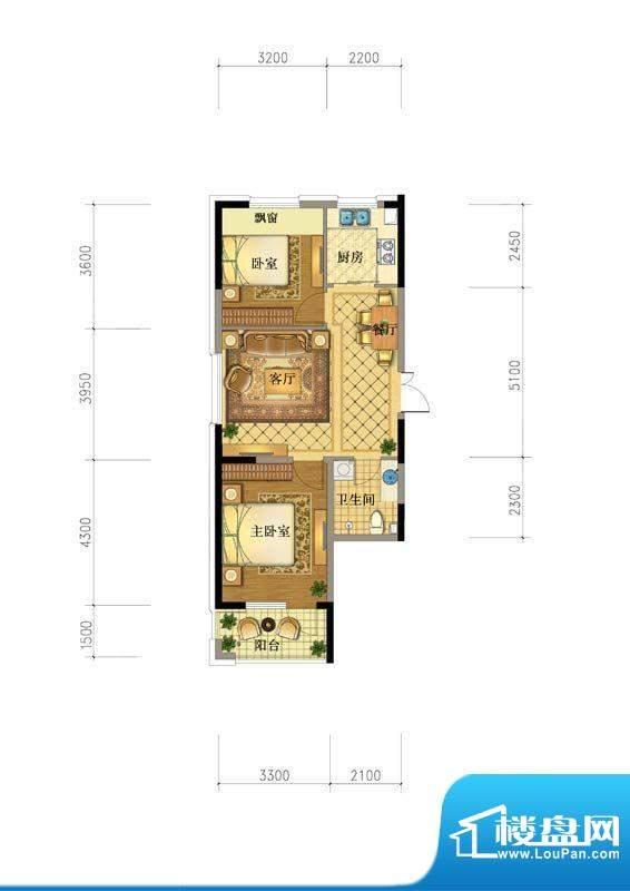 澳海澜庭6#82户型图面积:0.00平米