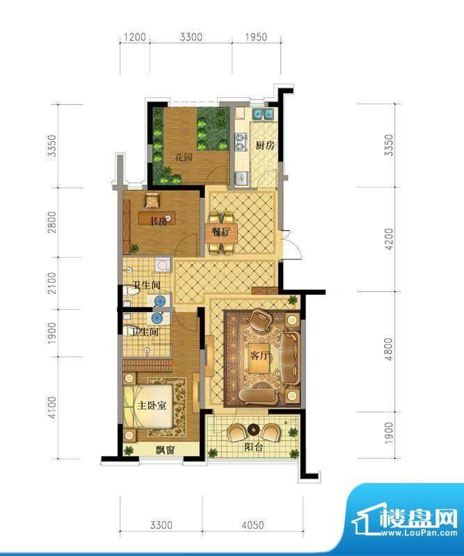 澳海澜庭6#118.6户型面积:0.00平米