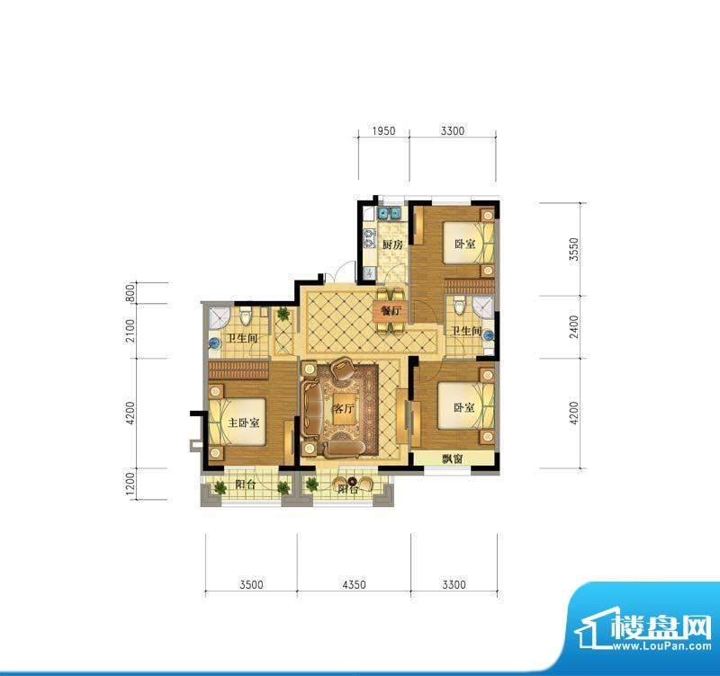 澳海澜庭7#127.5户型面积:0.00平米