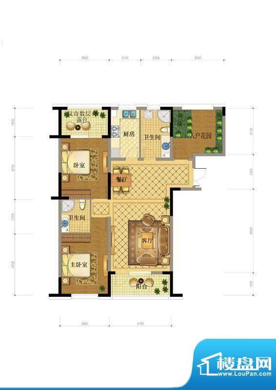 澳海澜庭9#户型图 面积:0.00平米