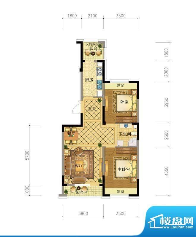 澳海澜庭10#户型图 面积:0.00平米
