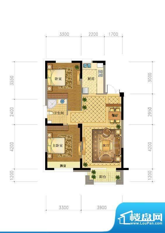澳海澜庭5#户型图 面积:0.00平米