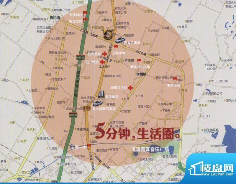 太极名城交通图