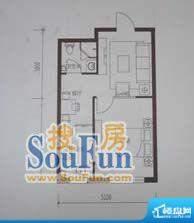 金鼎世纪城1室1厅1卫面积:47.83平米