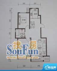 金鼎世纪城2室2厅1卫面积:88.74平米