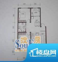 金鼎世纪城2室2厅1卫面积:76.59平米