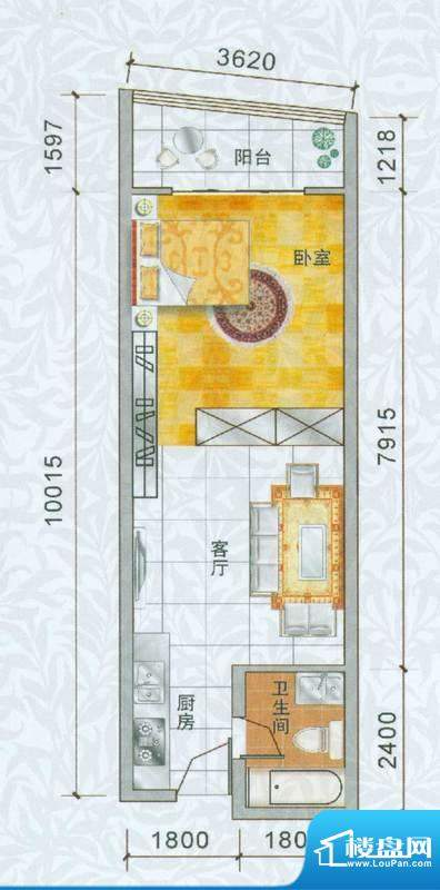 香樟俊园香樟五栋O户面积:50.00平米