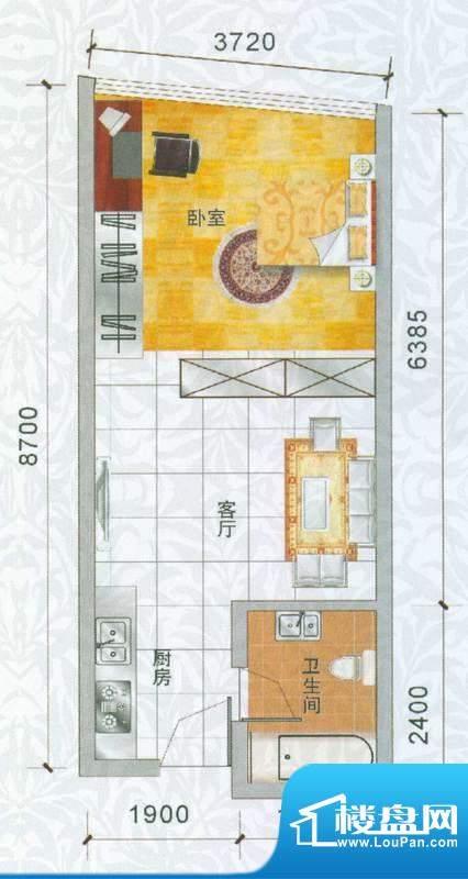 香樟俊园香樟五栋S户面积:42.00平米