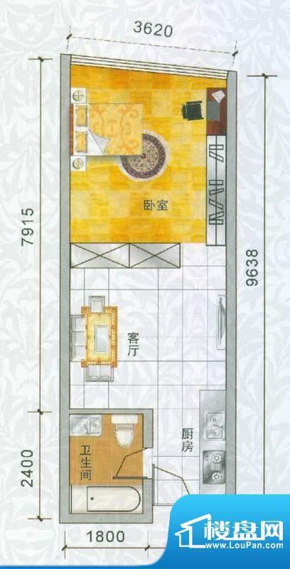 香樟俊园香樟五栋P户面积:46.00平米
