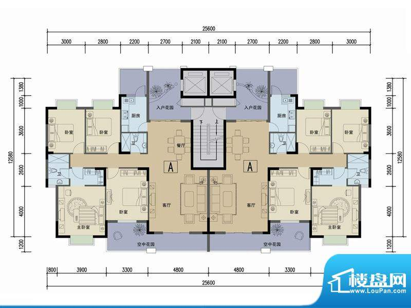 苏云鑫海国际A户型 面积:143.95平米
