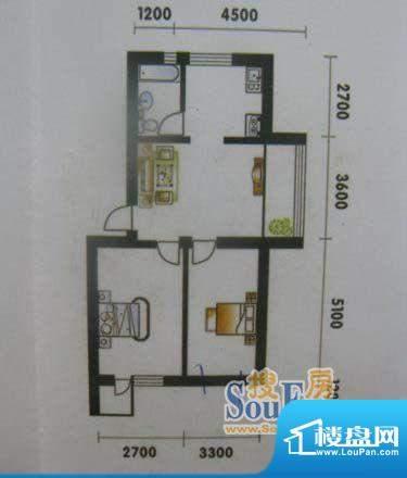 高山明珠2室1厅1卫7面积:75.28平米
