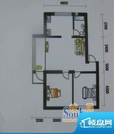 高山明珠2室1厅1卫7面积:78.05平米