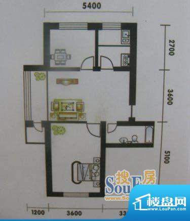 高山明珠2室1厅1卫7面积:72.87平米