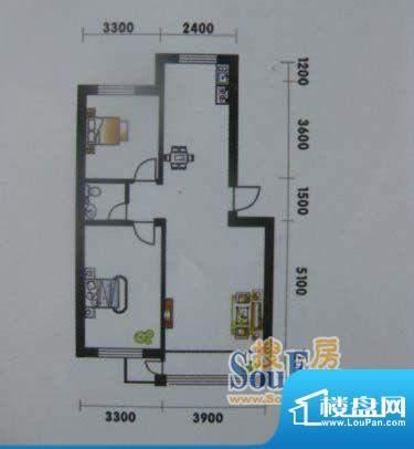 高山明珠2室2厅1卫8面积:87.28平米